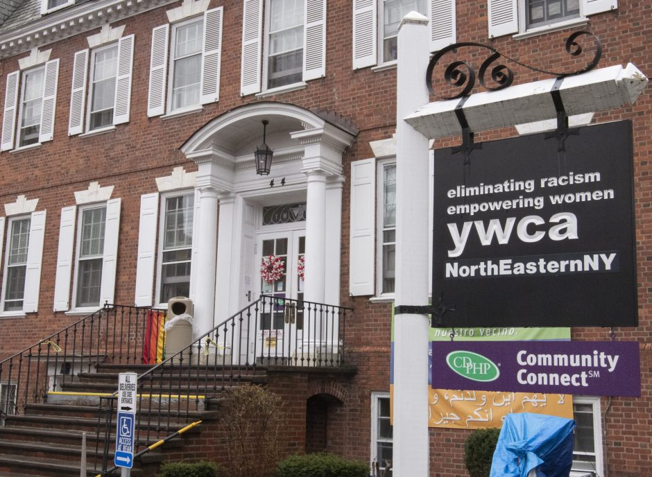 The YWCA in Schenectady is pictured.