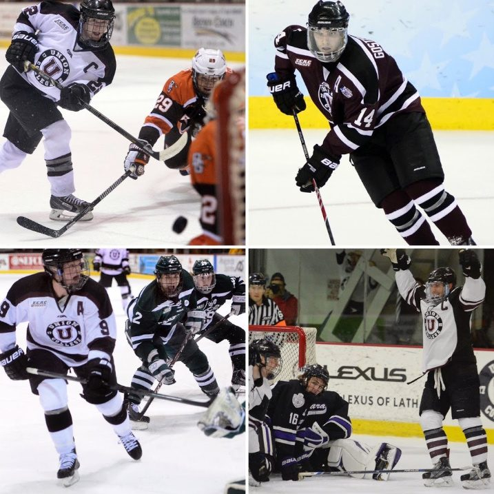 Clockwise: Mat Bodie, Shayne Gostisbehere, Mike Vecchione and Daniel Carr.