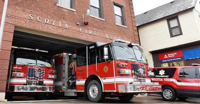 The Scotia Fire Department's current building on Mohawk Avenue is pictured in February