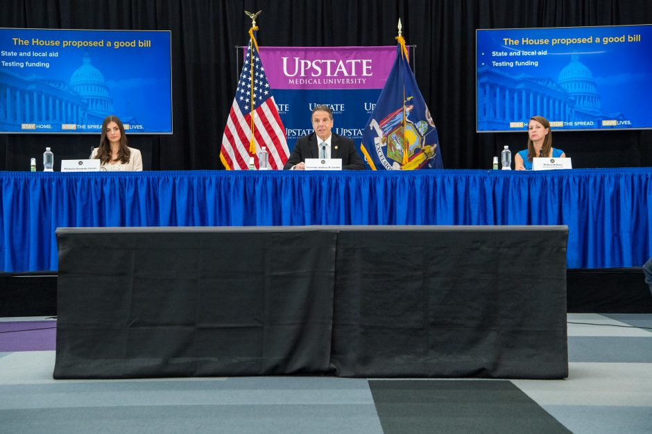 Governor Andrew Cuomo delivers his daily press briefing on COVID-19 Thursday, May 14.