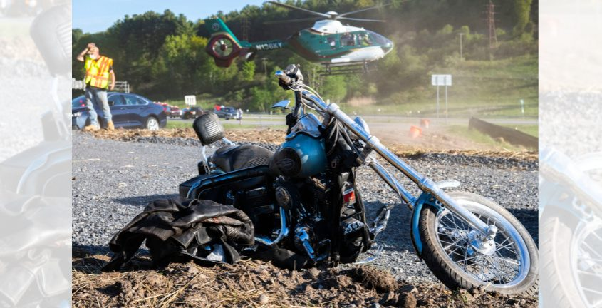 The motorcycle operator is airlifted to Albany Medical Center