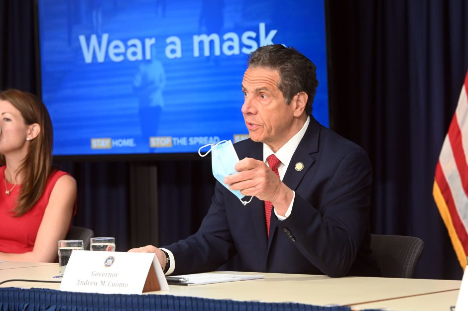 Governor Andrew Cuomo delivers his daily press briefing on COVID-19 Friday, May 23.