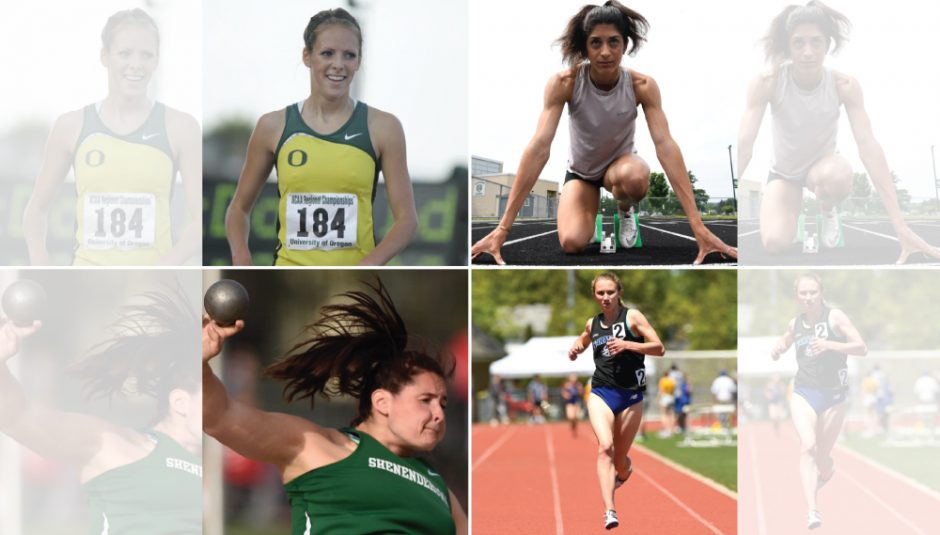 Cloclwise, Nicole Blood, Mia D'Ambrosio, Kelsey Chmiel and Jill Shippee made the Gazette girls' track and field fantasy draft.