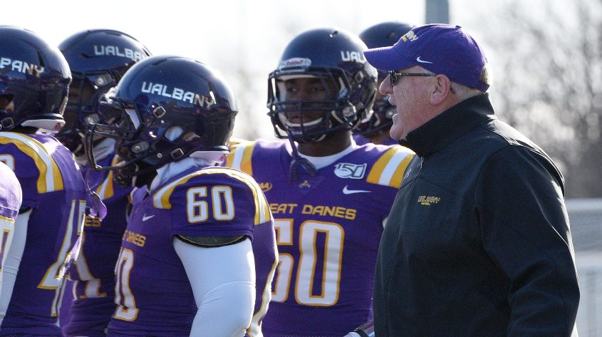 The UAlbany football team is ranked 23rd in the Athlon Sports 2020 FCS Preseason Top 25 poll.