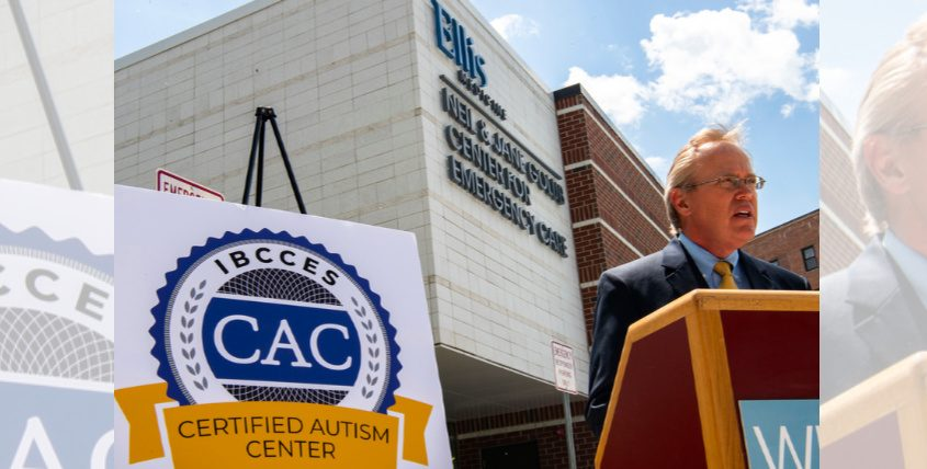 Paul Milton, Ellis Medicine President & CEO announces the new Certified Center for Autism