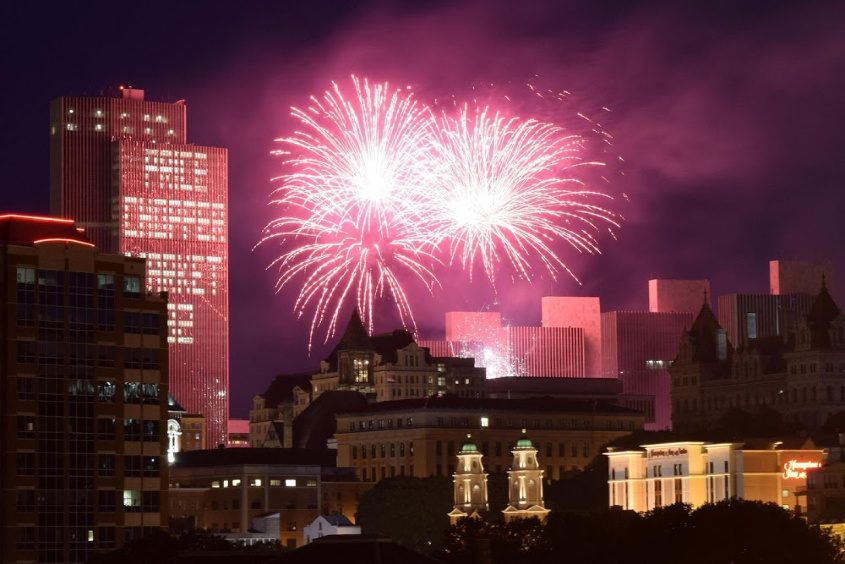 Empire State Plaza fireworks in 2016