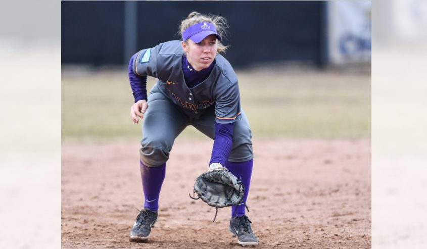 UAlbany softball senior Kelly Barkevich is a finalist for the America East Woman of the Year Award.