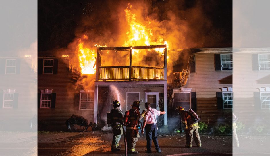 Schenectady firefighters at a 2-alarm fire at 1608 Crane St. on Saturday, June 27, 2020.