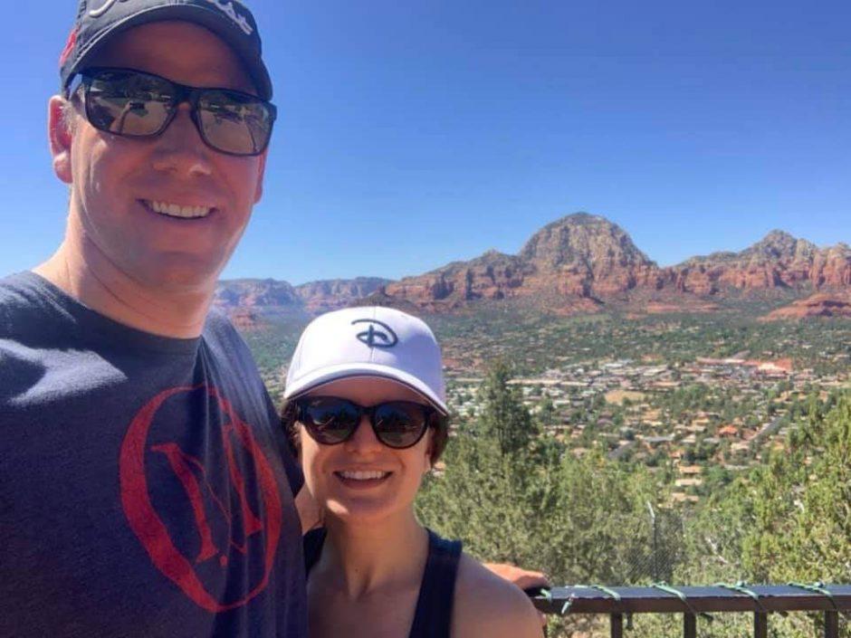 Justin Klemballa from Niskayuna with wife Caitlin. Klemballa is teaching golf pro in Arizona.
