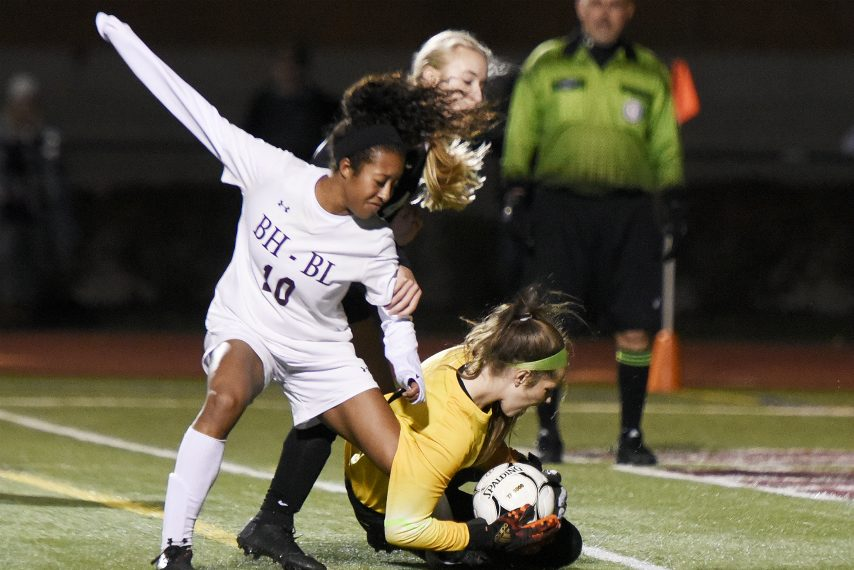 Raia James' overtime goal gave Burnt Hills-Ballston Lake a 3-2 win over Mohonasen in this Section II semifinal game in 2018.