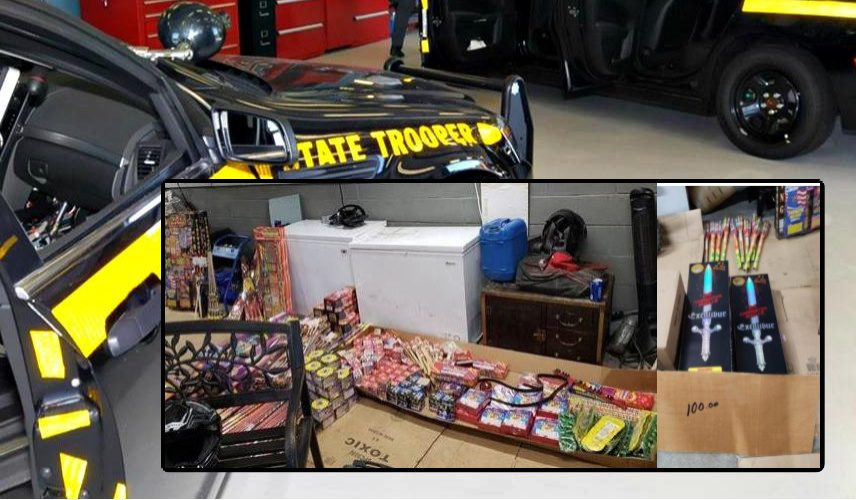Items seized Friday, state police say