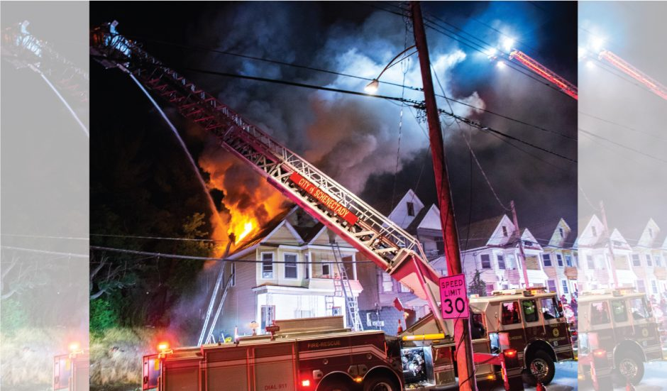 A 2 alarm fire at 631 Crane Street after fire was reported shortly after 10 p.m. Thursday, July 2, 2020.