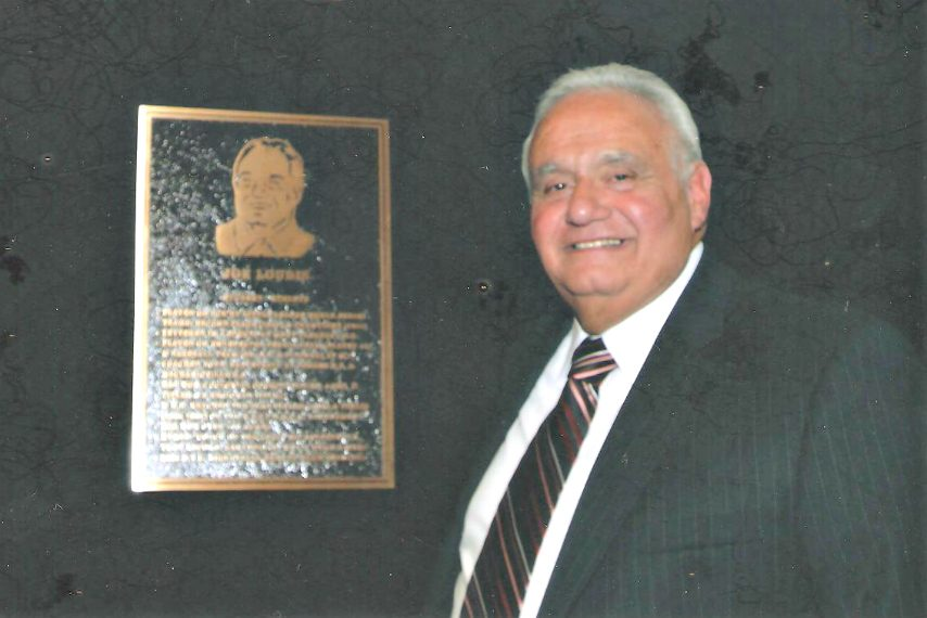 Joe Loudis attends his Schenectady City School District Athletic Hall of Fame Induction in 2008.