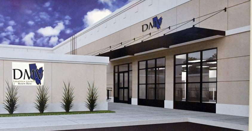 A rendering from 2019 of the renovated Clifton Park DMV office