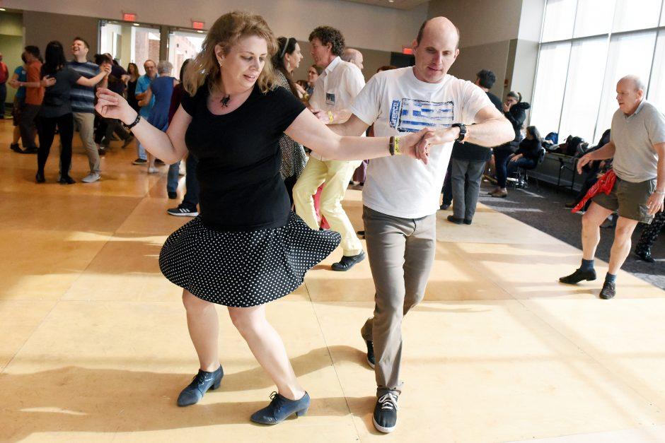 Bradford Kercull of Saratoga and Jennifer Emmons of Ballston Spa dance during last year's Flurry.