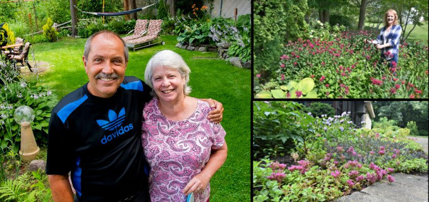 Left: Kathy and Dave Wood, of Niskayuna; Top right: Margie Miller, of Scotia; Bottom right: Ann Singer's home in Niskayuna