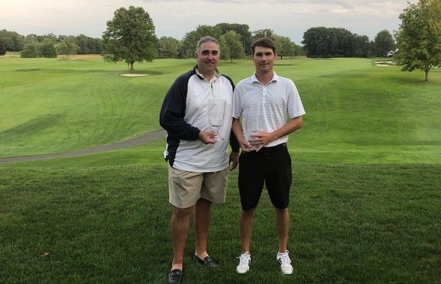 had Stoffer, left, won last year's CRAGA Stroke Play Championship at Schuyler Meadows. Ben Bates, right, was runner-up.