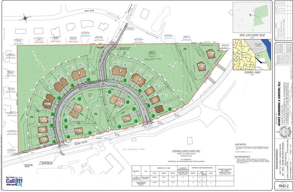 A rendering of the proposed 24-lot development provided earlier that includes the now disallowed Windsor Drive connection