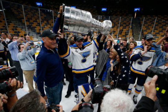 The St. Louis Blues won their first Stanley Cup last June.