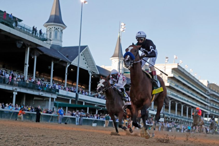 Authentic, right, beats Tiz the Law in the 146th running of the Kentucky Derby.BRIAN SPURLOCK/USA TODAY SPORTS