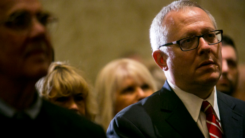 Michael Caputo, then a Republican strategist and now the assistant secretary of health for public affairs, at a campaign event in 2018. Credit: Sam Hodgson/The New York Times