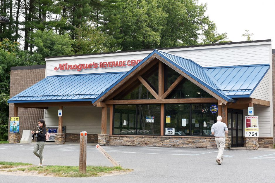 Minogue's Beverage Center in Malta on Route 9, pictured Thursday, sold a Powerball ticket worth $94.8 million.